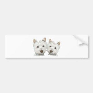 Perros lindos de Westie Pegatina Para Auto