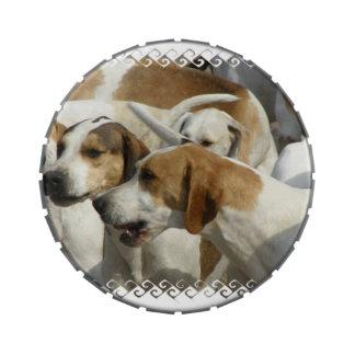 Perros lindos jarrones de dulces