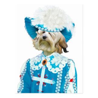 Perros Löwchen-Pequenos de la nobleza de la postal
