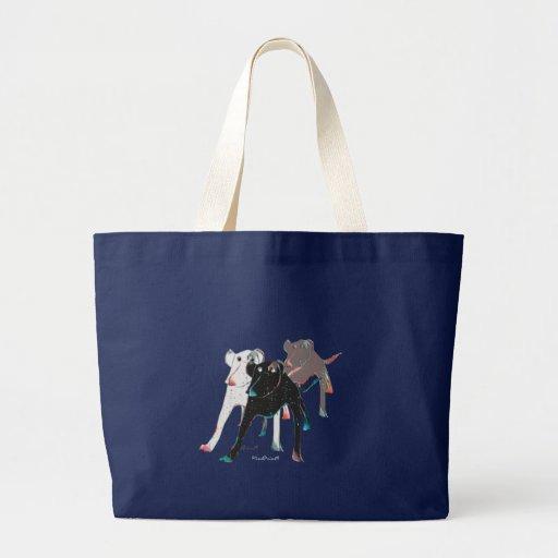 Perros manchados bolsa tela grande
