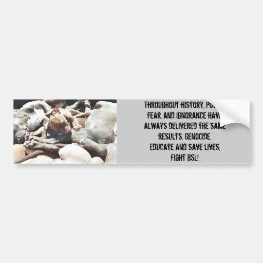perros matados en Denver, a lo largo de la histori Pegatina De Parachoque