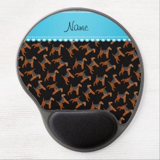 Perros negros conocidos personalizados de los alfombrillas de ratón con gel