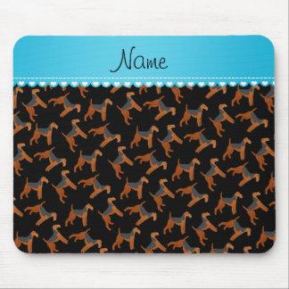 Perros negros conocidos personalizados de los tapetes de ratón