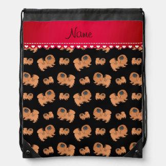 Perros negros conocidos personalizados de mochilas