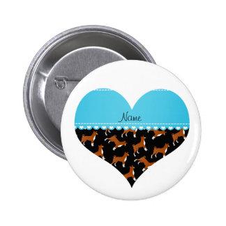 Perros negros conocidos personalizados del basenji pin redondo 5 cm