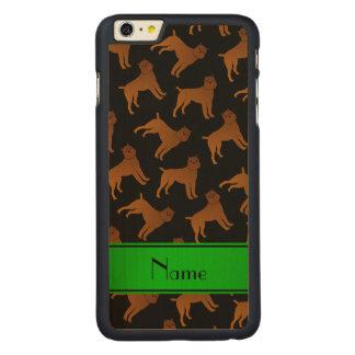 Perros negros conocidos personalizados del griffon funda de arce carved® para iPhone 6 plus slim