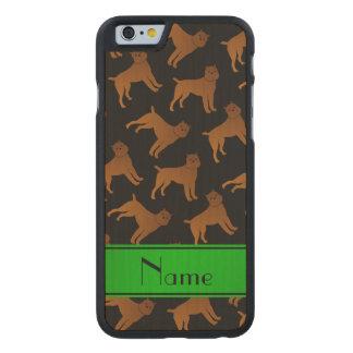 Perros negros conocidos personalizados del griffon funda de iPhone 6 carved® de arce