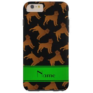 Perros negros conocidos personalizados del griffon funda de iPhone 6 plus tough