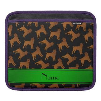 Perros negros conocidos personalizados del griffon funda para iPads