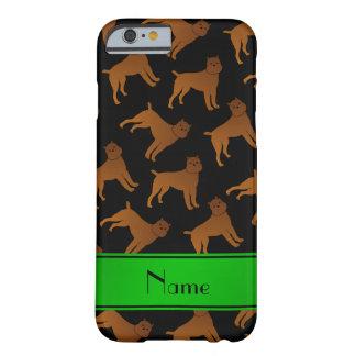 Perros negros conocidos personalizados del griffon funda para iPhone 6 barely there