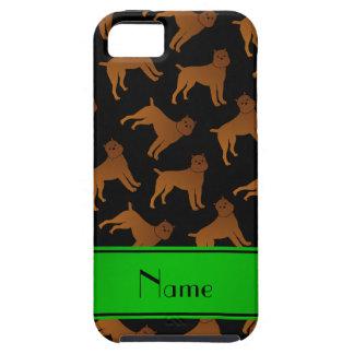 Perros negros conocidos personalizados del griffon iPhone 5 carcasa