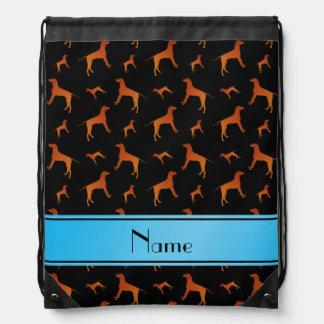 Perros negros conocidos personalizados del mochila