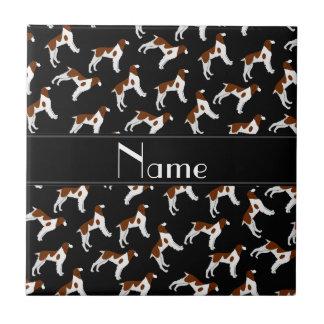 Perros negros conocidos personalizados del perro azulejo cuadrado pequeño
