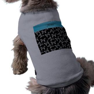 Perros negros conocidos personalizados del playera sin mangas para perro