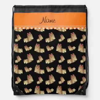 Perros negros conocidos personalizados del tzu de mochilas