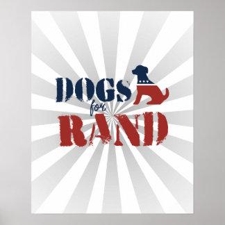 Perros para el rand póster
