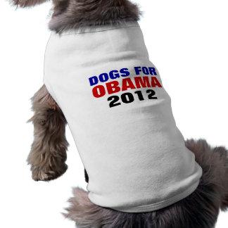 PERROS PARA la camisa del mascota de OBAMA 2012 Ropa De Mascota