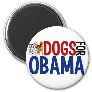 Perros para Obama Imán Redondo 5 Cm