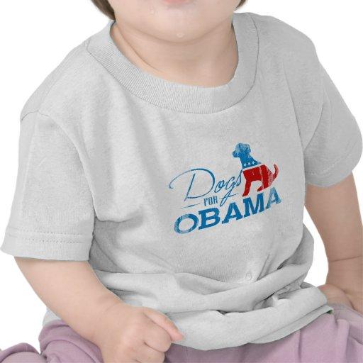Perros para Obama - Vintage.png Camiseta