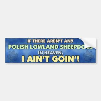 Perros pastor polacos de la tierra baja en pegatin pegatina de parachoque