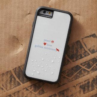 Perros perdigueros de oro del amor de la paz funda de iPhone 6 tough xtreme