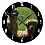 Perros perdigueros de oro relojes de pared