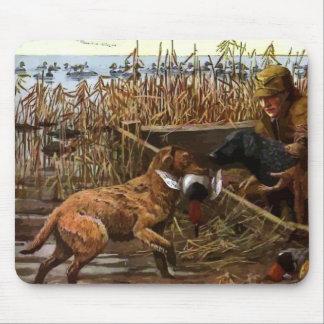 perros perdigueros pintados vintage con el cojín d alfombrilla de raton