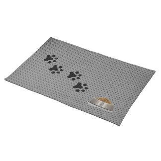 Perros Placemat (polkadot gris) Manteles