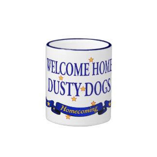 Perros polvorientos caseros agradables taza de dos colores