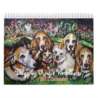 Perros por el calendario de Angie 2011