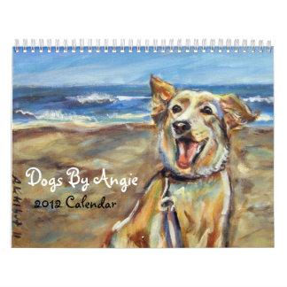 Perros por el calendario de Angie 2012