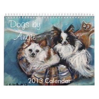 Perros por el calendario de Angie 2013