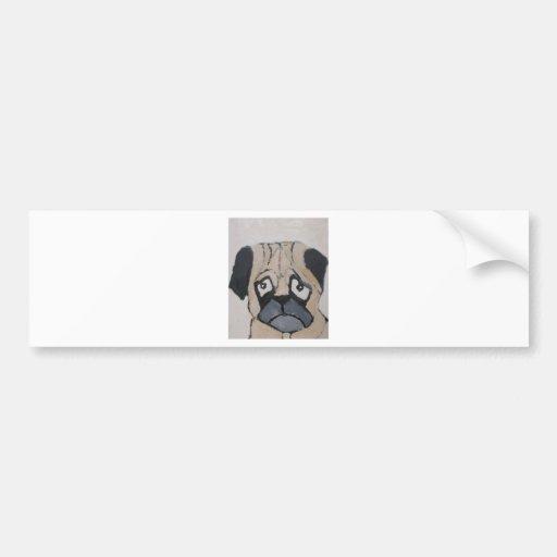 perros por el ginsburg de eric pegatina de parachoque