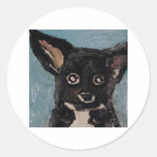 perros por el ginsburg de eric pegatina redonda