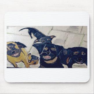 perros por el ginsburg de eric alfombrillas de raton
