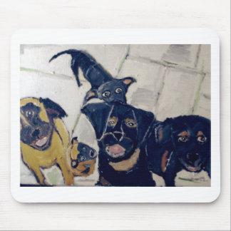 perros por el ginsburg de eric alfombrilla de ratones