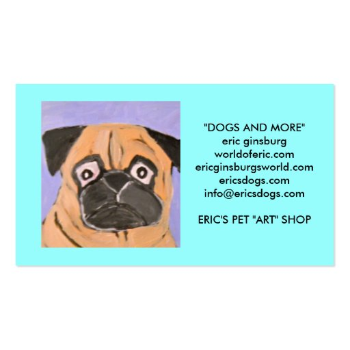 perros por el ginsburg de eric tarjetas personales