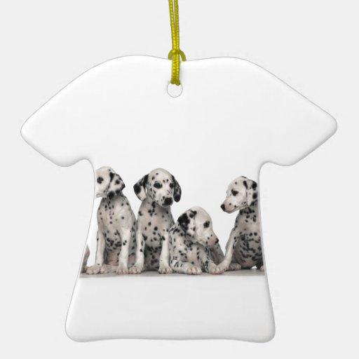 perros pupy del perro de perritos del perrito de adorno navideño de cerámica en forma de playera