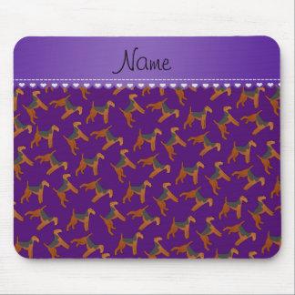 Perros púrpuras conocidos personalizados de los alfombrilla de raton