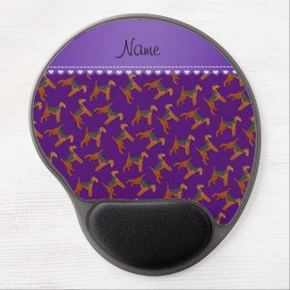 Perros púrpuras conocidos personalizados de los alfombrilla de raton con gel