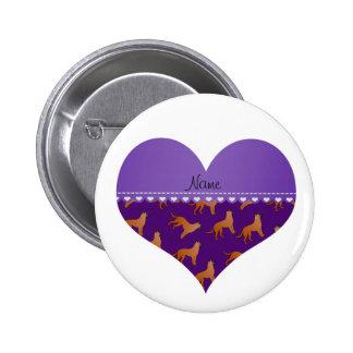 Perros púrpuras conocidos personalizados de los pin redondo 5 cm