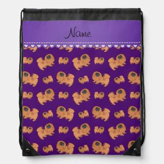 Perros púrpuras conocidos personalizados de mochila