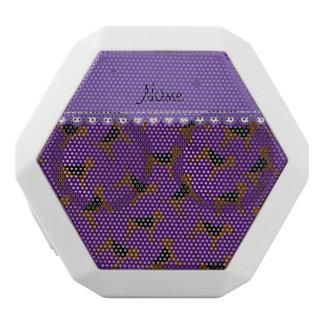 Perros púrpuras conocidos personalizados del altavoces bluetooth blancos boombot REX