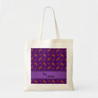 Perros púrpuras conocidos personalizados del bolsa tela barata