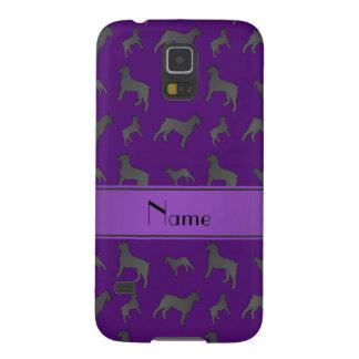 Perros púrpuras conocidos personalizados del carcasas de galaxy s5