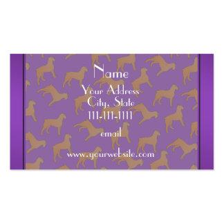 Perros púrpuras conocidos personalizados del DES Tarjetas De Visita