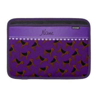 Perros púrpuras conocidos personalizados del fundas para macbook air