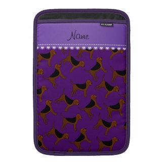 Perros púrpuras conocidos personalizados del funda para macbook air