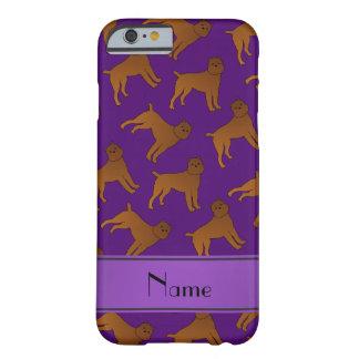 Perros púrpuras conocidos personalizados del funda para iPhone 6 barely there