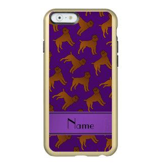 Perros púrpuras conocidos personalizados del funda para iPhone 6 plus incipio feather shine